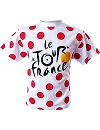 Tour de France Tdf-SE-3065 2 T-Shirt Mixte Enfant, Pois, FR : 2/4A (Taille Fabricant : 2/4A)