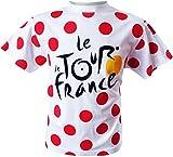 T-Shirt Der Tour de France Radfahren-offizielle Kollektion-Kindergröße für Kinder von 10-12 Jahren weiß - weiß