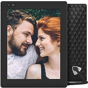 Cornice digitale Seed WiFi di Nixplay 8 - Nero, Programma solo in Inglese, con la spina di Euro.