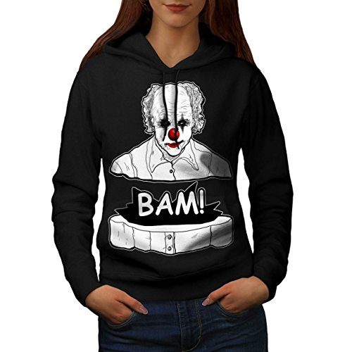 Clown Scary Creep Horror Women M Kapuzenpullover | Wellcoda