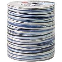 Präsent - Nastro in rafia per decorazioni, 50 m, colore: Blu/Bianco