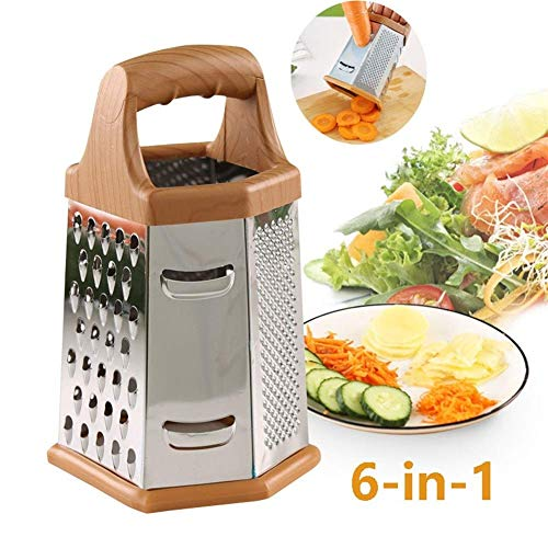 WYBD.Y Cocina 6 en 1 Mandoline Slicer Cutter Chopper and Rallador Vegetal Dicer Potato Slicer - Veggie...