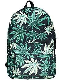Black Kukubird Weed diseño patrón mochila Backpack