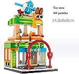 Bambini Casa modello di blocchi costruttivi negozio di modello di negozio di giocattoli gioco Candy, figli dell'Illuminismo Block set, i ragazzi creativi regalo di compleanno,giocattoli
