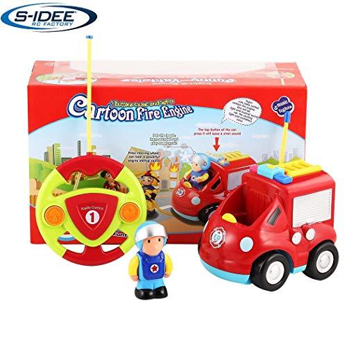 s-idee® 18166 RC Feuerwehrauto für Kleinkinder ab DREI Jahren mit Musik und Lichteffekte Spielzeug Auto ferngesteuert Baby rc*