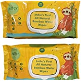Allter Bamboo Baby Wipes, White Pack of 72 (Pack of 2)