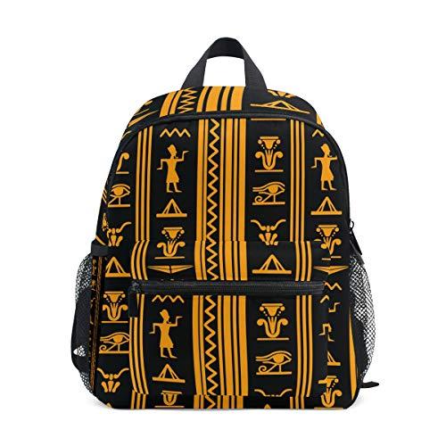 QMIN Kinder-Rucksack mit antikem ägyptischem Muster, Bedruckt, kleine Kleinkinder, Vorschul-Schultertasche, Reisen, Elementar, Kindergarten, Schulranzen für Mädchen Jungen und Kinder