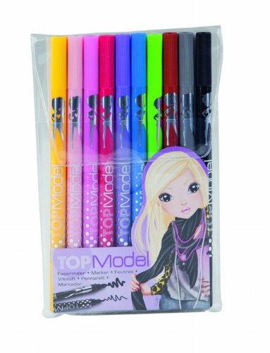 Preisvergleich Produktbild Depeche FASERMALER / Filzstifte 6840 Top Model 10 Stifte mit breiter und schmaler Spitze