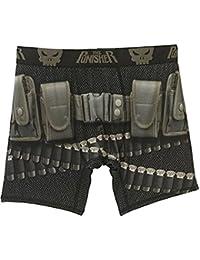 40d5938816c4d1 Marvel The Punisher Mens Boxer Briefs Graphic Logo Underwear