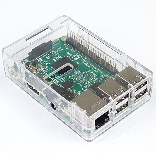 Preisvergleich Produktbild SunFounder Transparent ABS Case Gehäuse Hülle für Raspberry Pi 3, 2 Model B & Raspberry Pi 1 Model B+