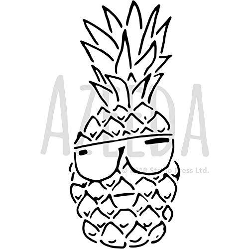 A4 'Coole Ananas' Wandschablone / Vorlage (WS00035671)