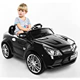 Costzon Kids Ride On Car, 12V Mercedes-Benz SL65, Battery Powered With RC Parental Remote Control (Black)