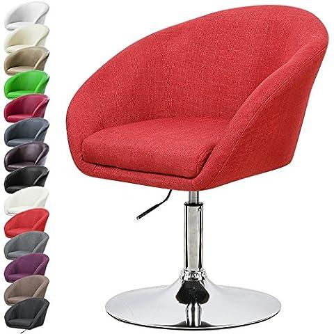 WOLTU 1X Fauteuil de bar réglable BH61bd-1-a design en lin,chaise canapé avec accoudoir,Bordeaux