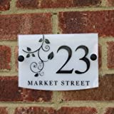 House Number Sign / Address Plaque Modern with Door Number