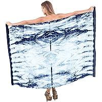 La Leela nuotata mano 100% cotone coprire spiaggia del pannello esterno tie dye sarong 78x42 (Camicia In Cotone Piqué Sport)