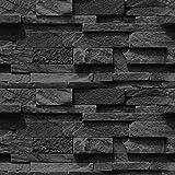 murando - Fototapete selbstklebend 10m - 3D Tapete - Wandtattoo - dekorative Möbelfolie - Dekorfolie - Fotofolie - Panel - Wandaufkleber - Wandposter - Wandsticker - Steinoptik Steinwand f-A-0691-an-c