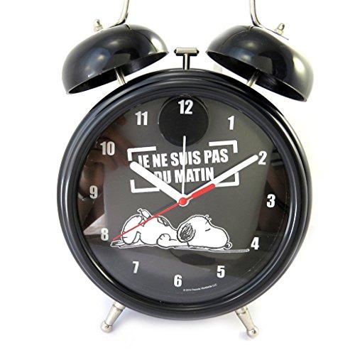 Reloj gigante campana alarma 'Snoopy'negro no soy