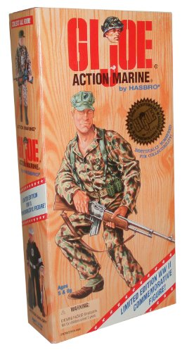 Joe 12-zoll-gi (G.I. Joe Year 1995 World War II 50th Anniversary Commemorative Series with Individually Numbered Limited Edition 12 Inch Tall Soldier Action Figure - Action Marine with U.S. Marine Corps Uniform, Belt with Shoulder Strap and 4 Grenades, Canteen with Holder, Belt Pouch, Cap, Handknife with Leg-Strap Sheath, Boots, Dog Tag and Rifle (Hispanic Version) by G. I. Joe)