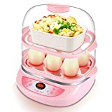 Double Function Egg Cooker Office Worker Home Breakfast Steamed Egg Student Old Children Large Capacity Egg Steamer