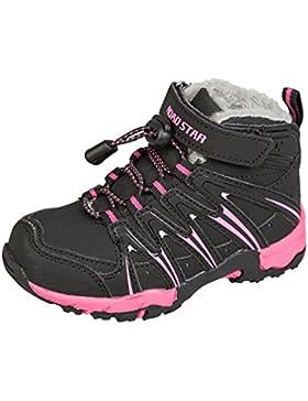 GIBRA® Sneaker für Kinder, Art. 3827, Stiefel warm gefüttert, schwarz/pink, Gr. 25-30