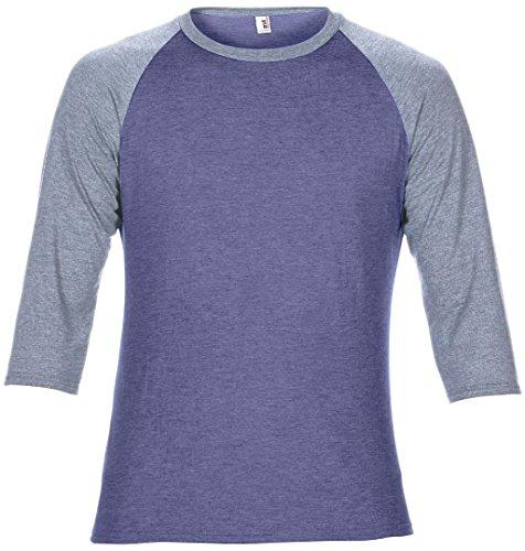 Anvil -  T-shirt - Donna Heather Blue/ Heather Grey