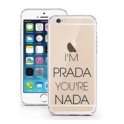 licaso Handyhülle für iPhone 8 aus TPU mit Nada Italien Mode Print Design Schutz Hülle Protector Soft Extra