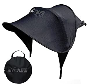 i-Safe Buggy Shade Universal Sun Canopy Complete with Storage Bag (Black) by iSafe