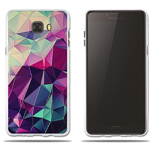 """fubaoda Funda Samsung Galaxy C9 Pro, 3D Relear,Dibujo de Colorido Cubo Mágico, Flexible Funda Protectora Anti-Golpes para Samsung Galaxy C9 Pro (6.0"""")"""