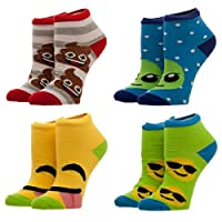 Emoji Ankle Sock Youth 4 Pack New ka5bqjemo