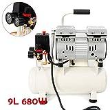 BTdahong Compresseur d'air sans huile 680 W avec compresseur d'air comprimé,...
