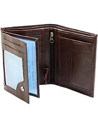 RAS® Portefeuille En Cuir Souple De Luxe Pour Hommes, Fentes Pour Cartes De Crédit, Fenêtre Pour Carte D'identité Et Poche à Monnaie #503