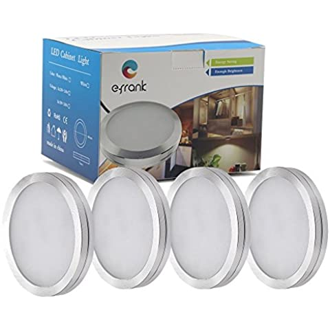 Efrank LED Sotto Cabinet Kit di Illuminazione, Dimmerabili 4 Deluxe Kit, Totale di 8 Watt, 680lm, Bianco