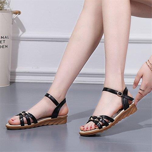 XZGC - Scarpe con cinturino alla caviglia Donna Nero