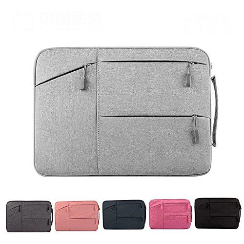 DNSJB Multifunktions-Handtasche für Laptops und Notebooks, Mehrfarbig 15inch grau - Grau Laptop Attache