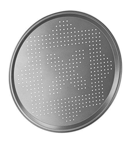 Pizza Pan 30cm Non-Stick Tray Baking Round Oven Vented Crisper Dish Steel Easy Cooking Tin Classic Kitchen Coating Holes Base
