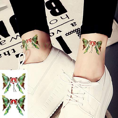 Brt impermeabile temporaneo tatuaggio adesivo piccolo croce sole e luna dita orecchio tatto flash tatoo tatuaggio falso per ragazza figlio uomo (2 pacchetti) azzurro