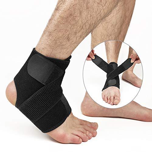 Hually Knöchelbandage, Sprunggelenkbandage für Damen und Herren, Linke und rechte Füße, Unterstützt alle Größen, Knöchelbandage stützt den Fuß beim Sport wie Handball, Fußball, Volleyball