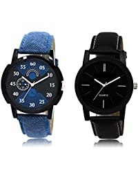 The Shopoholic Black Blue Combo Best Combo Pack Black And Blue Dial Analog Watch For Boys Analog Watch
