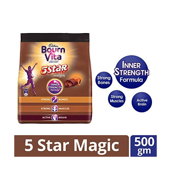 Cadbury Bournvita 5 Star Magic Health Drink 500 g refill pack
