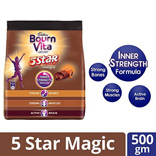 Cadbury Bournvita 5 Star Magic Pro-Health Chocolate Health Drink, 500...