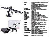 CHRISSON 27,5 Zoll E-Bike, E-Mountainbike Pedelec Elektrofahrrad E-Mounter 1.0 mit Bosch Performance Line Motor Akku Powerpack 300 und Shimano ACERA 3000 Schaltung, Schwarz 48 cm - 9