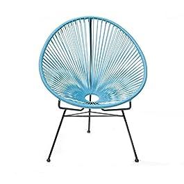 Anyer Forme D'oeuf Chaise Longue Créativité Lron Art Chaise en Rotin Balcon Café Salon Paresseux Fauteuils Inclinables…