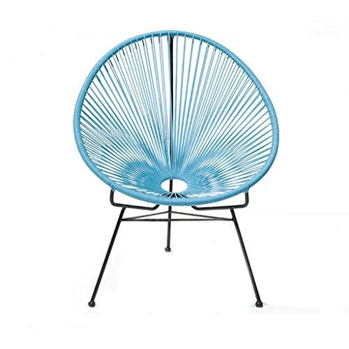 Forma De Huevo Lounge Chair Creatividad Lron Art Silla De Ratán Balcón Café Sala De Estar Lazy Recliners Multicolor Opcional 70 * 82Cm,A
