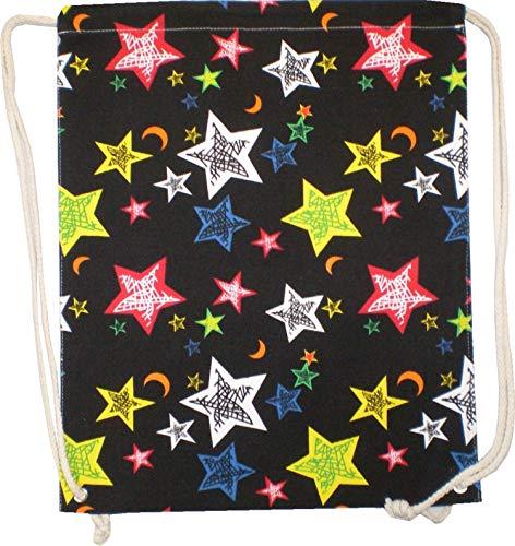 Sacs Sac à dos homme sac Hipster pour femme Noir Sac de gym Toile Marin Sac pochette en tissu enfant Sac Gym - étoiles 4730