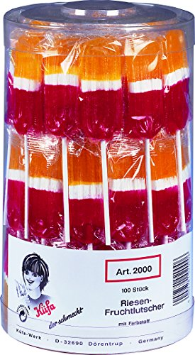 Preisvergleich Produktbild Küfa Riesen-Fruchtlutscher,  1er Pack (1 x 100 Stück)