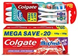 #5: Colgate MaxFresh Spicy Fresh Toothpaste - 300 g with 360 Toothbrush (Buy 2 Get 1 Free)