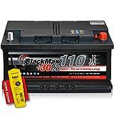 PKW Starter Auto Batterie 12 V 110Ah 950A/EN ers. 90 95...