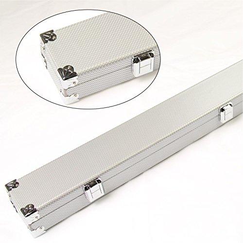 Silber verstärkten Ecken lang Hard 3/4Queue-Koffer für Snooker-Queue Schaumstoff gefüttert