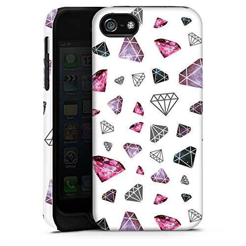 Apple iPhone X Silikon Hülle Case Schutzhülle Diamanten Juwelen 80er Tough Case matt