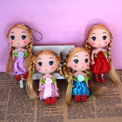 FairOnly Puppen 12 cm Doppel Geflecht Bowknot Anhänger Schlüsselanhänger Ring Geschenk Spielzeug -